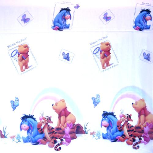 Voálová záclona s dětským motivem Medvídek Pú
