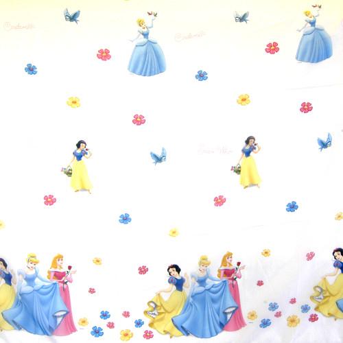Dětská voálová záclona s princeznami