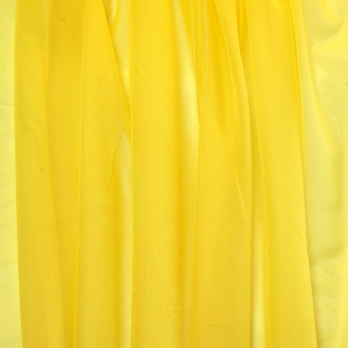Voálová záclona hladká metráž Žlutá