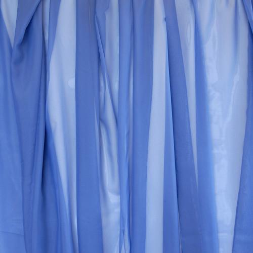 Voálová záclona hladká metráž Modrá