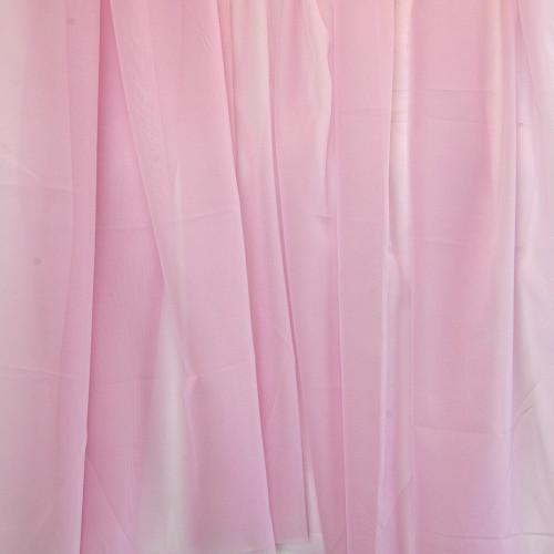 Voálová záclona hladká metráž Růžová