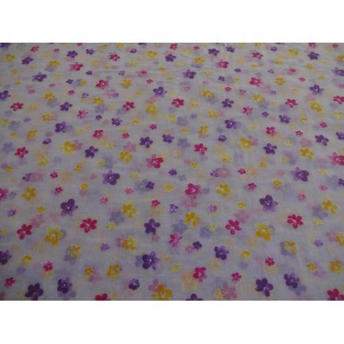 Záclona voál fialové kytičky batist FLORENTINA metráž