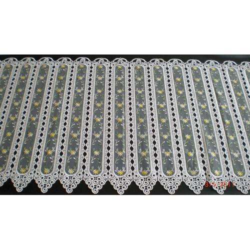 Krátká vitrážová záclona na tyčku 60cm EP006 žlutá