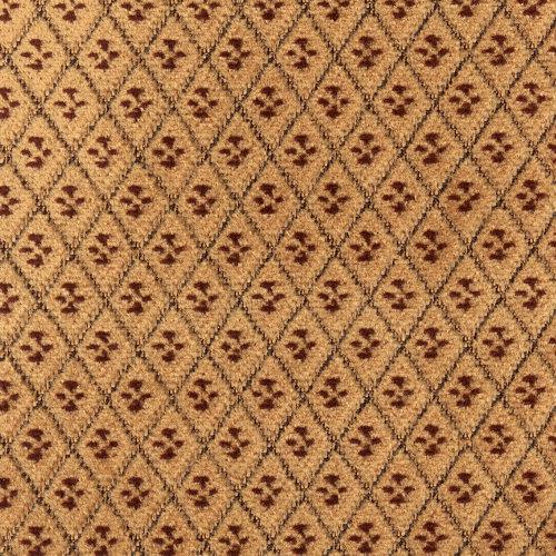 Tkaný plyš geometrický vzor hnědý TITUS 2051/270