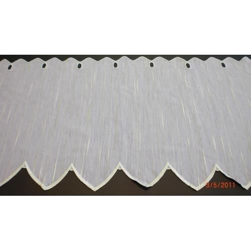 Krátká vitrážová záclona 45cm Laura Zelená