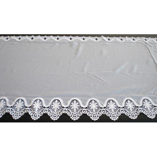 Krátká vitrážová záclona na tyčku 60cm 6155 krémová