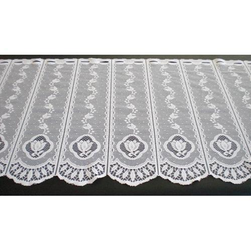 Krátká vitrážová záclona na tyčku 60cm ECRU krémová