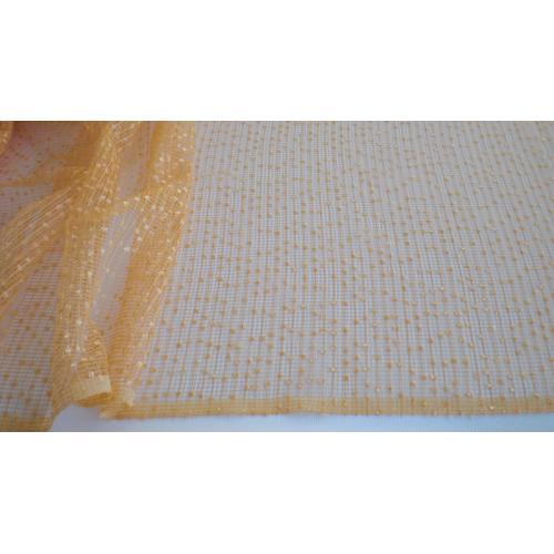 Síťovaná záclona bez olůvka Alfa oranžová