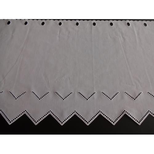 Krátká vitrážová záclona na tyčku 46cm F184S18 bílá