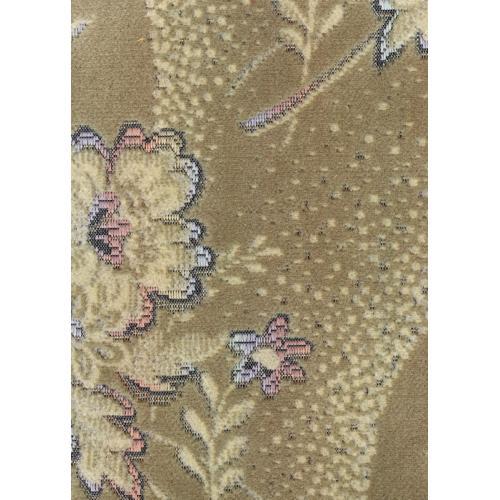 Tkaný plyš s květinovým vzorem DIANA 2045/500 zelinkavá
