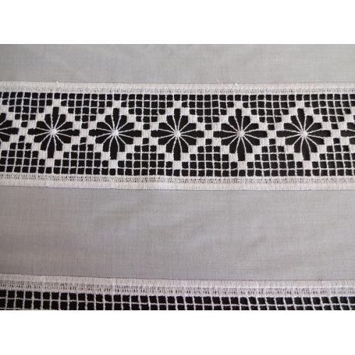 Krátká vitrážová záclona háčkovaná  45cm 13/034 bílá