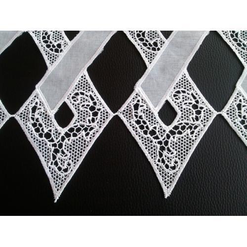 Krátká vitrážová záclona 40cm 2319 bílá
