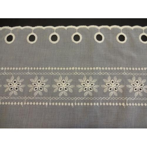 Krátká vitrážová záclona na tyčku 60cm BATIST 8140 béžová