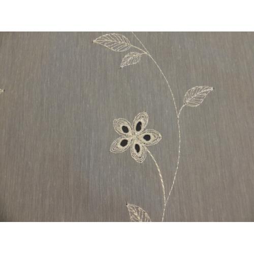 Krátká vitrážová záclona na tyčku 60cm BATIST 30204 béžová