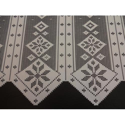 Krátká vitrážová záclona na tyčku 45cm 523/174/21 bílá