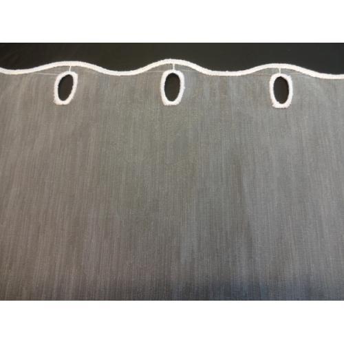 Krátká vitrážová záclona na tyčku 50cm Organza Exclusive bílá