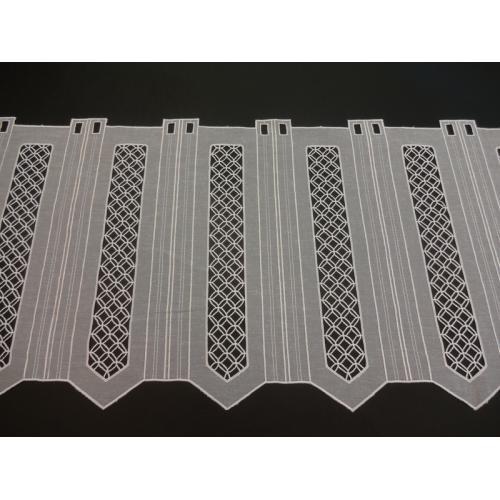Krátká vitrážová záclona 45cm BATIST 40189 bílá