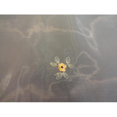 Krátká vitrážová záclona na tyčku 45cm Organza Laurina