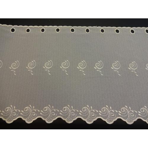 Krátká vitrážová záclona na tyčku 50cm BATIST 828 béžová