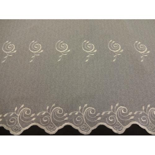 Krátká vitrážová záclona na tyčku 70cm BATIST 828 béžová