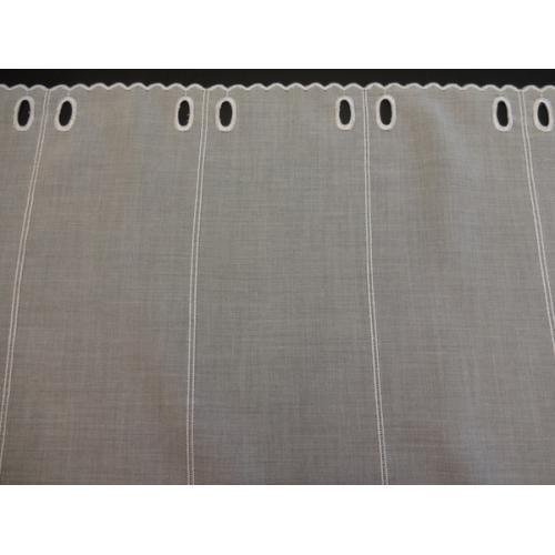 Krátká vitrážová záclona na tyčku 46cm BATIST 40591 bílá