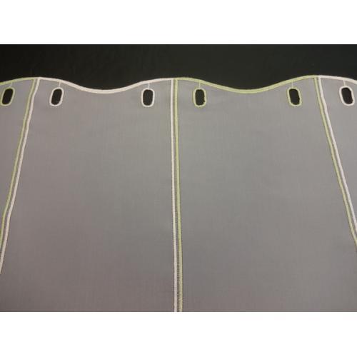 Krátká vitrážová záclona na tyčku 60cm Zelené lístky 10040451