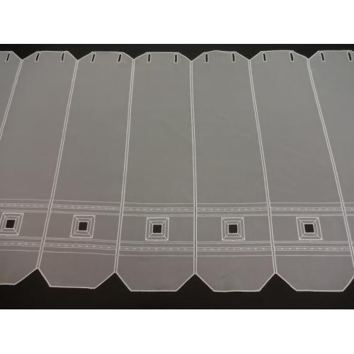 Krátká vitrážová záclona 60cm 11114 bílá