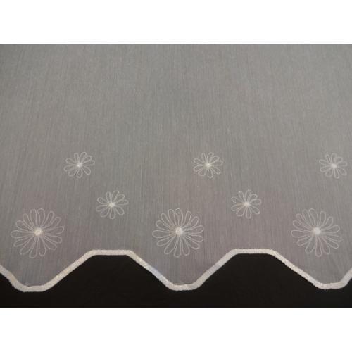 Krátká vitrážová záclona 70cm Kopretina 169127 bílá