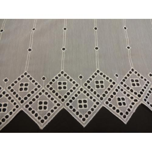 Krátká vitrážová záclona na tyčku 60cm 4610361 bílá