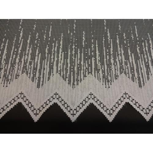 Krátká vitrážová záclona na tyčku 60cm Prší 3081 bílá