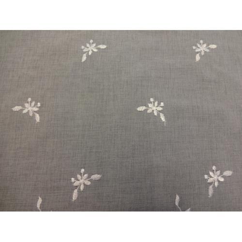 Krátká vitrážová záclona na tyčku 70cm BATIST 242656 bílá