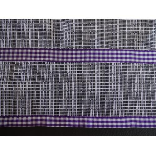 Krátká vitrážová záclona na tyčku 60cm síť fialová