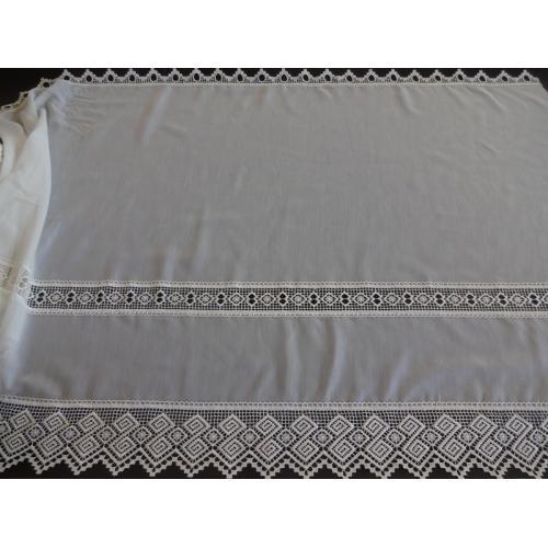 Krátká vitrážová záclona 90cm 2101 smetanová