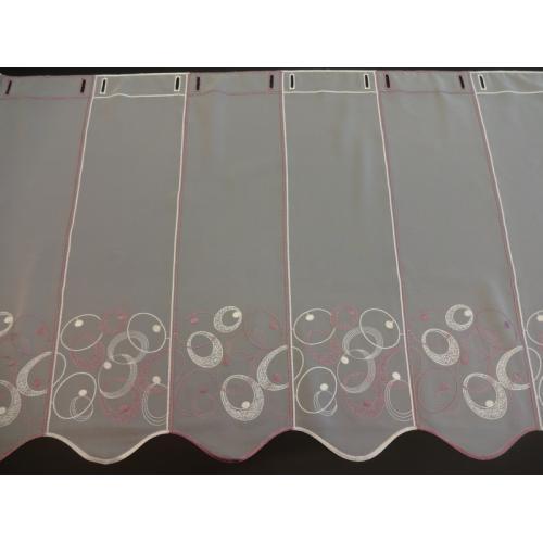 Krátká vitrážová záclona 60cm 40220 bílá