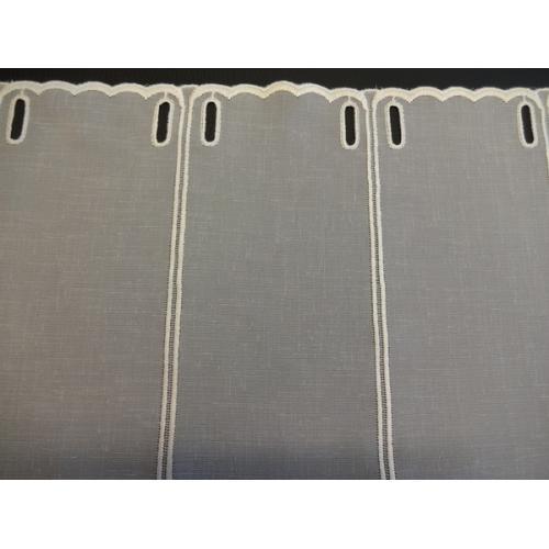 Krátká vitrážová záclona na tyčku 45cm BATIST 565/600 béžová