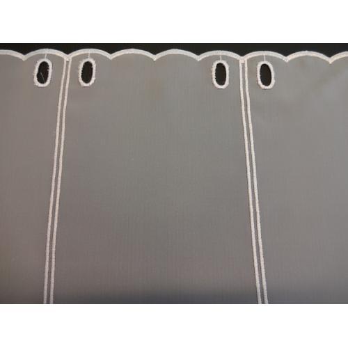 Krátká vitrážová záclona 45cm 40231 bílá
