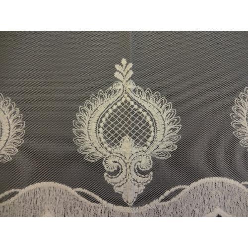 Luxusní vyšívaná záclona s bordurou B 3375 béžová