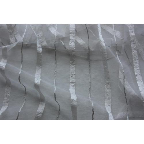 Krešovaná záclona s pruhy Exclusive Valery 05 béžová