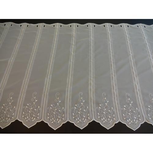 Krátká vitrážová záclona na tyčku 90cm 40183 béžová