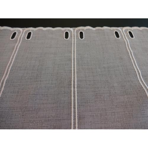 Krátká vitrážová záclona na tyčku 90cm BATIST 599 bílá