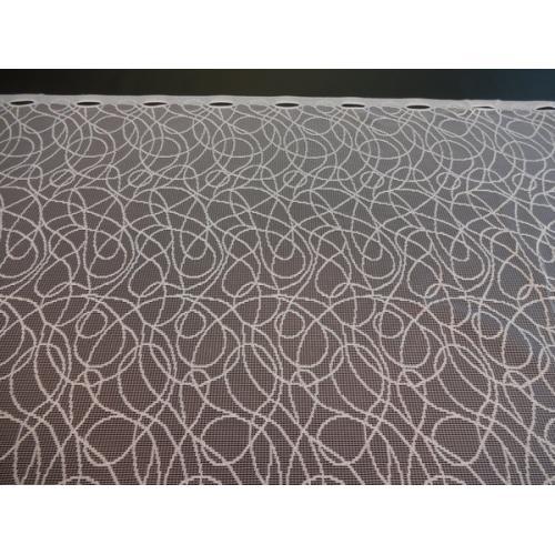 Krátká vitrážová záclona na tyčku 70cm 50/1600 bílá
