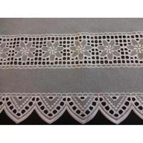 Krátká vitrážová záclona na tyčku 30cm BATIST 2318 béžová