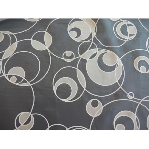 Záclona organza se vzorem koleček DEVORE béžová