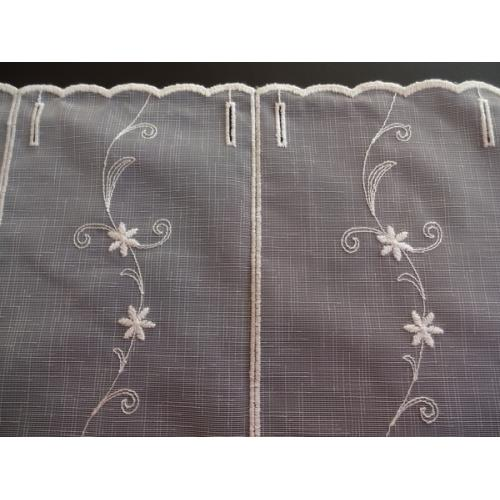 Krátká vitrážová záclona 90cm BATIST F237740 béžová
