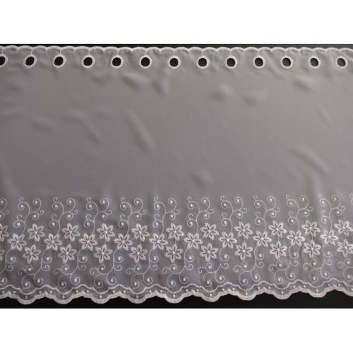 Krátká vitrážová záclona 45cm 2621 bílá