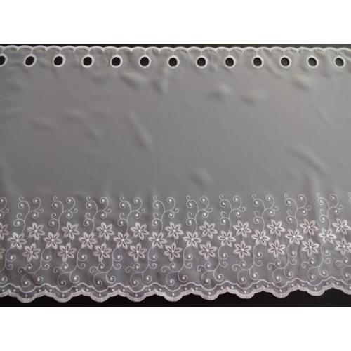 Krátká vitrážová záclona 90cm 2621 bílá