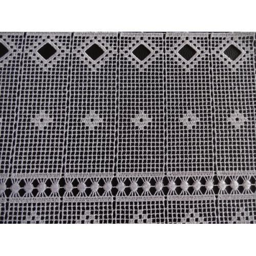 Krátká vitrážová záclona 30cm 11428 bílá