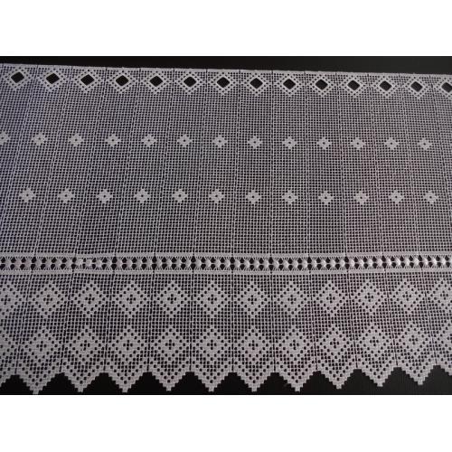 Krátká vitrážová záclona 45cm 11428/01 bílá