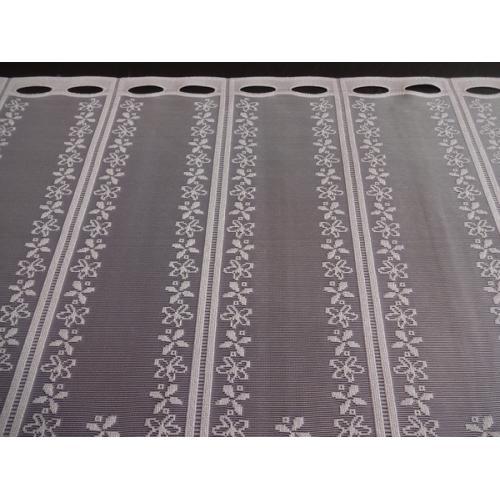 Krátká vitrážová záclona na tyčku 90cm 332150 bílá