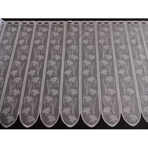 Krátká vitrážová záclona na tyčku 70cm 332190 bílá